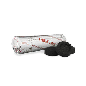 Three Kings Quick Lighting Charcoal Briquettes - 33mm