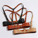 Faux Leather Body Bondage Cage Harness