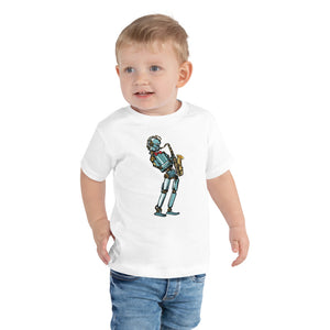 Hip Robot with Saxophone Toddler Short-Sleeve Tee