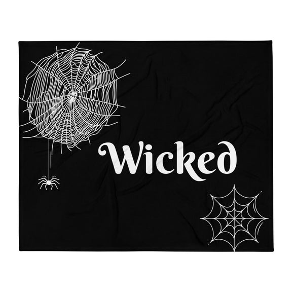 Wicked Gothic Throw Blanket