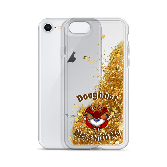 Doughnut Mess with Me Liquid Glitter iPhone Case