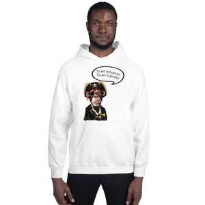"Pirate Monkey ""To err is human. To arr is pirate."" Unisex Hoodie"