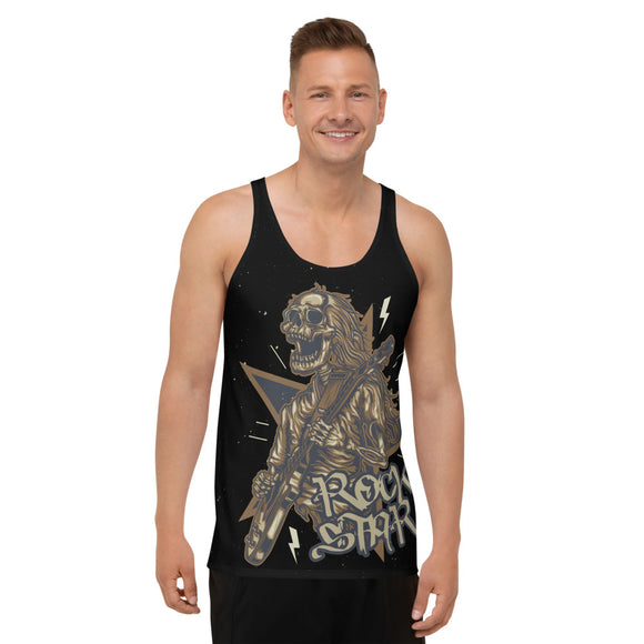 Rockstar Skeleton Unisex Tank Top