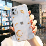 Moon and Stars Glitter iPhone Case