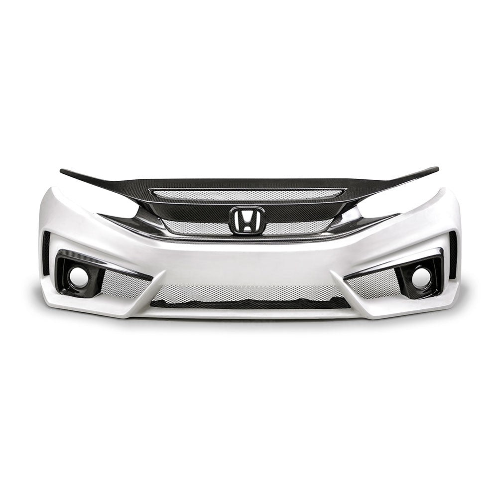TT-STYLE FIBERGLASS / CARBON FIBER FRONT BUMPER FOR 2016-2020 HONDA CIVIC SEDAN