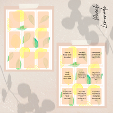 Load image into Gallery viewer, Peach Lemonade Self-Encouragement Cards