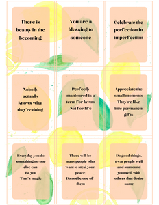 Peach Lemonade Self-Encouragement Cards