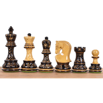 "3.7"" Emperor Series Staunton Chess Pieces Only set- Double Weighted Rose Wood"