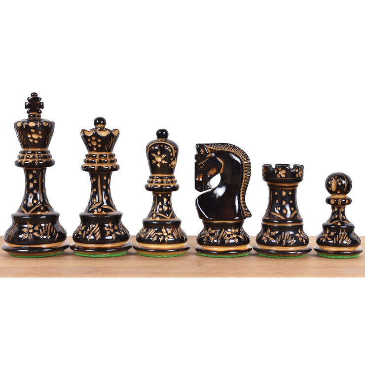 "19"" Flat Chessboard in Rosewood & Maple Wood - 50 mm Square - Alg Notations"
