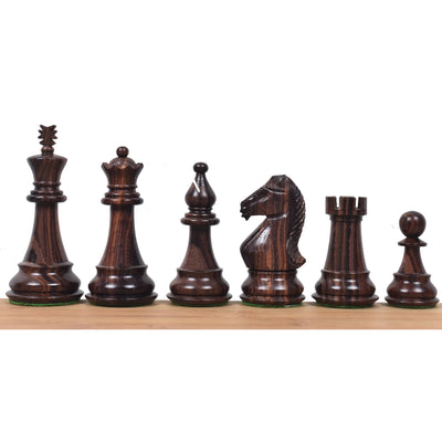 "4"" Majestic Series Staunton Chess Pieces Only set-Double Weighted Rosewood"