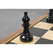 4.3″ 1800's St. George Staunton Chess Pieces Only set- Antiqued Boxwood & Ebony