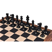 1849-50 Leuchars Cook Staunton Chess Pieces Only set - Natural Ebony Wood - 4.5""