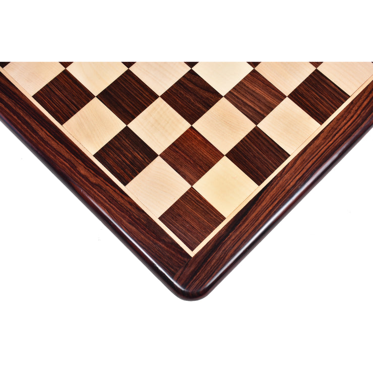 19 inches Large Flat Chess board - Rosewood & Maple Wood - Square of 50 mm