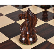 "4"" Ferocious Knight Staunton Chess Pieces Only set - Weighted Rosewood"
