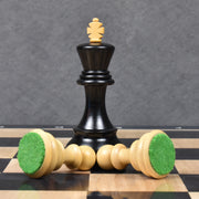 "3.9"" Russian Zagreb 59' Chess Pieces only set - Triple Weighted Ebony Wood"