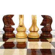 "1950 Reproduced Bobby Fischer 3.7"" Dubrovnik Golden Rosewood Chess Pieces Set"