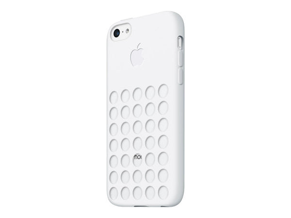 Originalt silikone cover til iPhone 5c - hvid