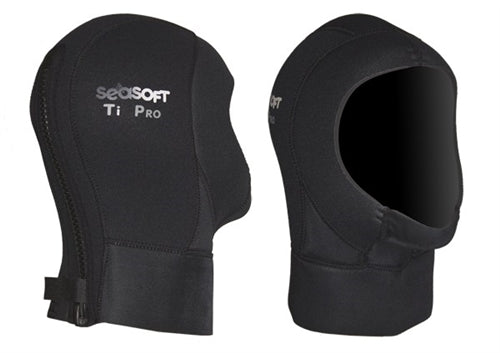 SEASOFT Ti PRO 6 mm Drysuit Hood with Zipper