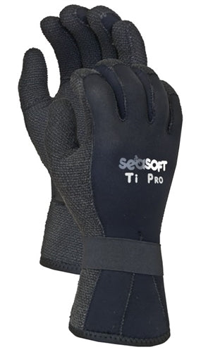 Seasoft Ti Pro 5 mm Kevlar Gloves