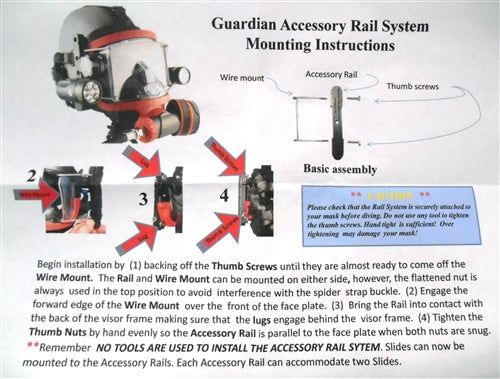 Guardian FFM Accessory Rail with Universal Slide