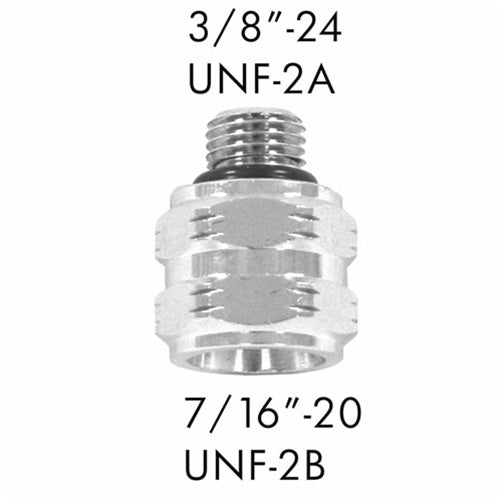 "AD-05 Scuba Adapter 3/8""-24 UNF-2A to 7/16""-20 UNF22B"