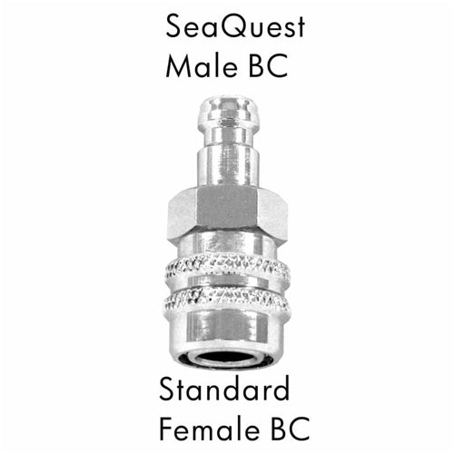 AD-10  Scuba Adapter SeQuest Male BC to Standard Female BC