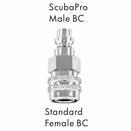 AD-11  Scuba Adapter ScubaPro Male BC to Standard Female BC
