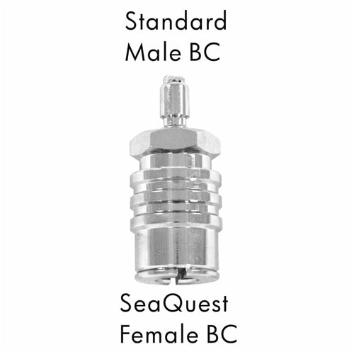 AD-12  Scuba Adapter Standard Male BC to SeaQuest Female BC
