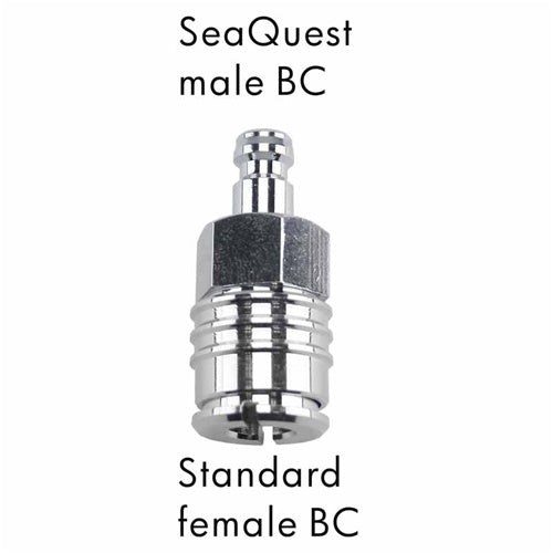 AD-16  Scuba Adapter SeQuest Male BC to Standard Female BC