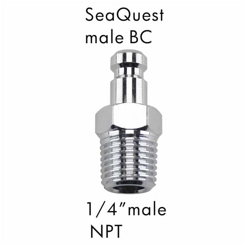 "AD-23 Scuba Adapter SeaQuest Male BC to 1/4"" Male NPT"