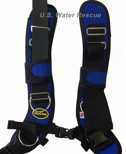 OxyCheq Deluxe Adjustable Harness Chroma Series- Mariner Blue