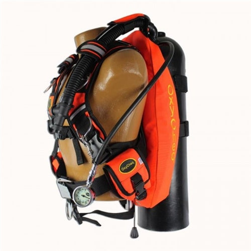 Oxycheq Safety Orange BCD: Wing, Harness, Backplate
