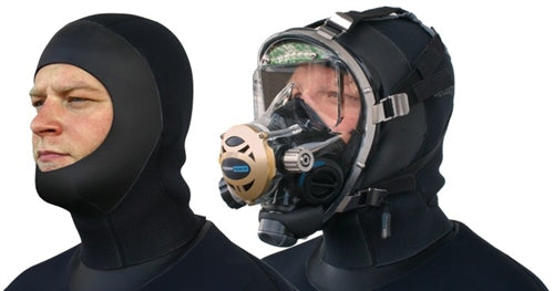 SEASOFT PRO / M6 6mm Drysuit Hood for wearing with a full face mask