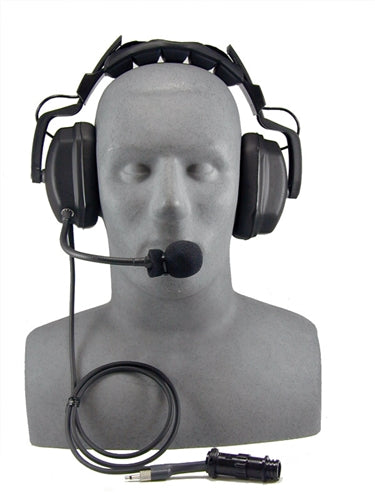 Headset, deluxe headset with boom mic. Set up for MK-7 Buddy Line.