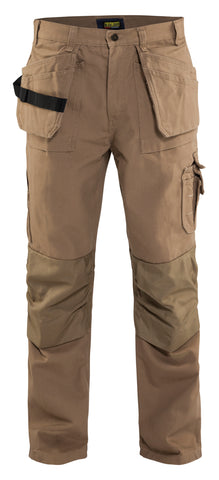 1630  1320 BRAWNY WORK PANTS - W/ UTILITY POCKETS 12oz (Khaki)