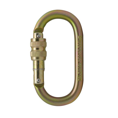 OVATTI STEEL SCREW GATE CARABINER