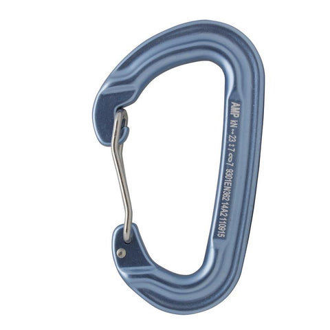CONTIGUA WIRE GATE MODIFIED D SHAPE CARABINER BLSV