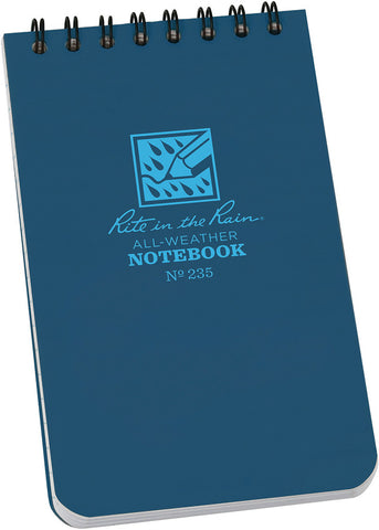 No. 235 Top Spiral Notebook 3x5 Blue