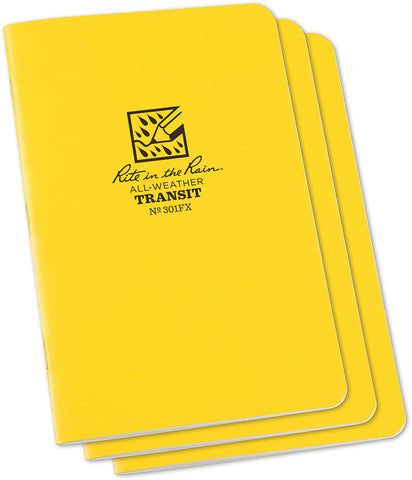 No. 301FX Transit Stapled Notebook 3 Pk 4-5/8 x 7 Yellow