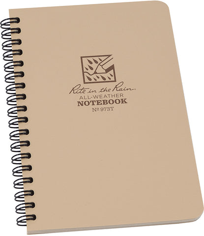 No. 973T Side Spiral Notebook 4-7/8 x 7 Tan