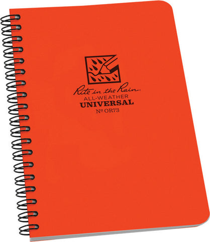 No. OR73 Side Spiral Notebook 4-7/8 x 7 Orange