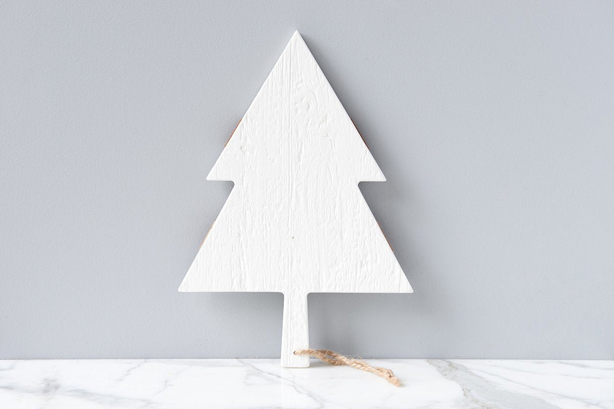White Mod Tree Charcuterie Board