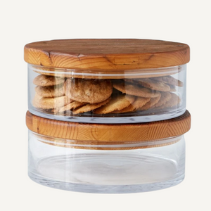 Classic Wood Top Canister