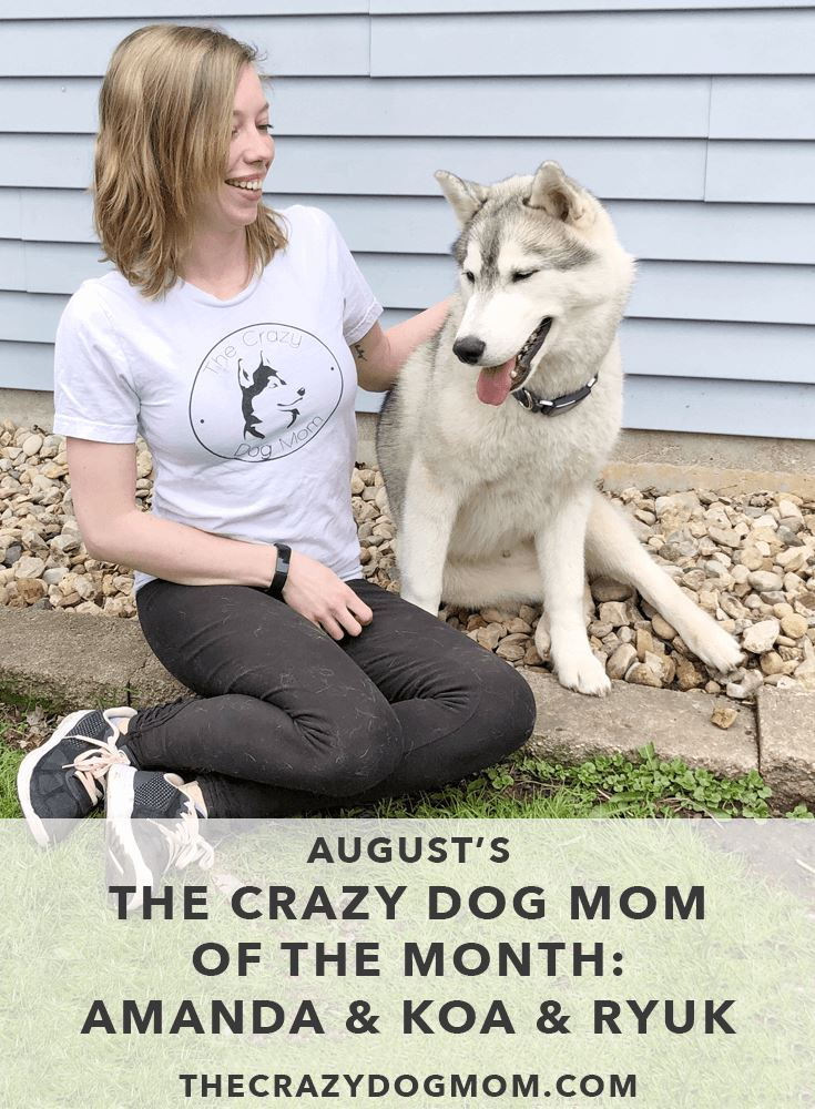 the crazy dog mom of the month Amanda Koa & Ryuk