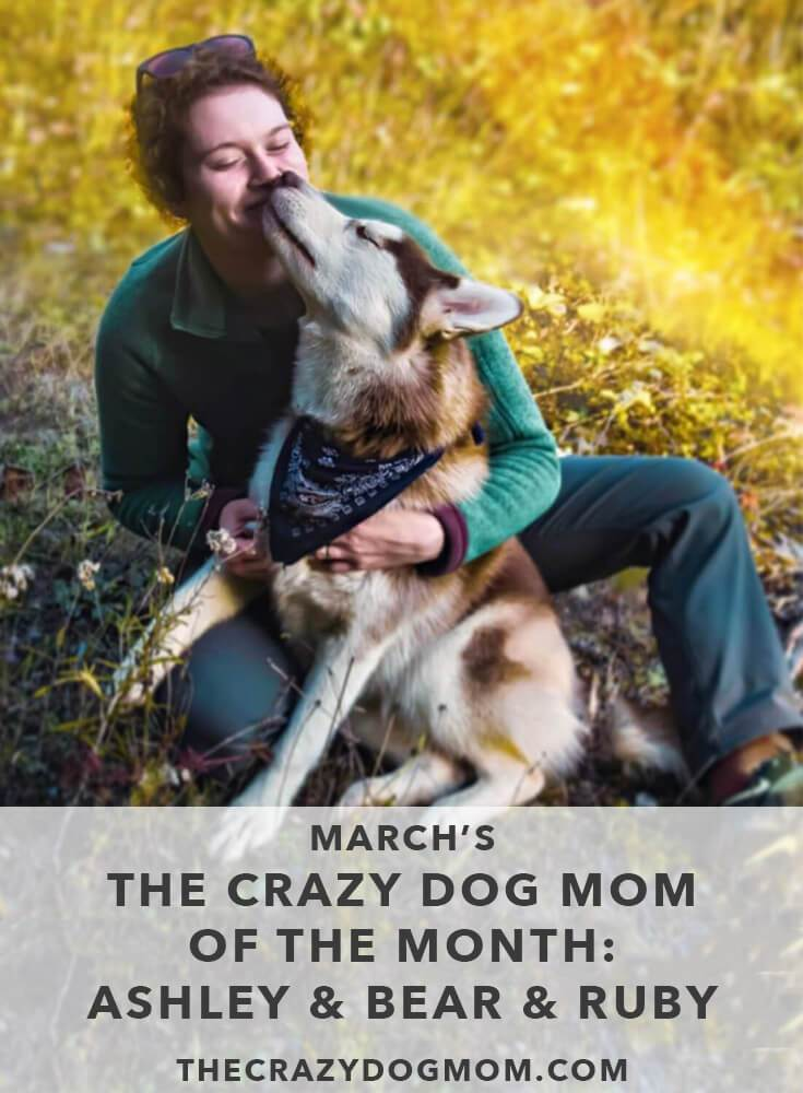 March's The Crazy Dog Mom of the Month: Ashley with Bear and Ruby