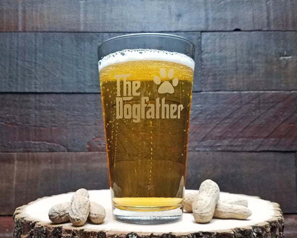 the dogfather beer glass