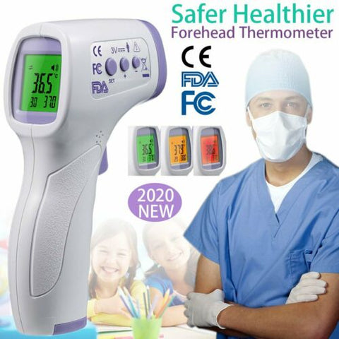 DIGITAL INFRARED THERMOMETER NON-CONTACT TEMPERATURE EAR FOREHEAD