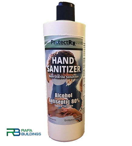 Liquid Hand Sanitizer 16oz - ProtectRxx - Box with 12 (16oz)