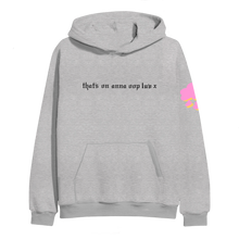 Load image into Gallery viewer, anna oop luv hoodie gray