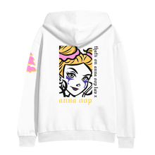 Load image into Gallery viewer, anna oop luv hoodie white